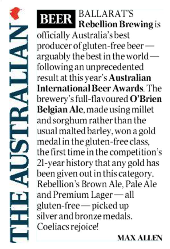 O'Brien Beer in the Australian, Max Allen June 2013 1