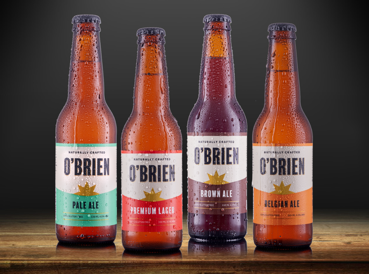 New O'Brien Beer Branding
